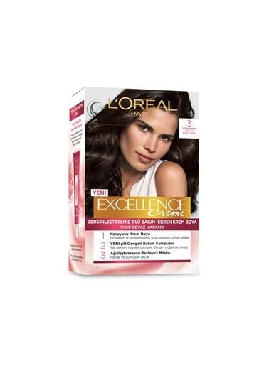 L'Oréal Paris Loreal Excellence Creme Saç Boyası 3 Koyu Kestane Renkli